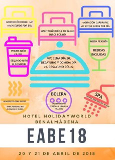 ¿Dónde tendrá lugar nuestro#EABE18?