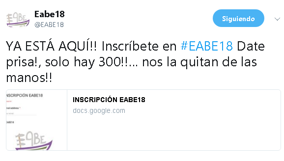 EABE18: Crónica de una jornada devértigo